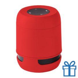 Bluetooth luidspreker handsfree belfunctie rood bedrukken