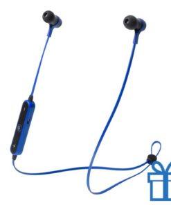 Bluetooth oordopjes handsfree blauw bedrukken