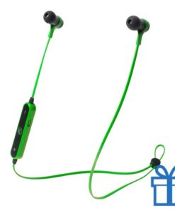 Bluetooth oordopjes handsfree groen bedrukken