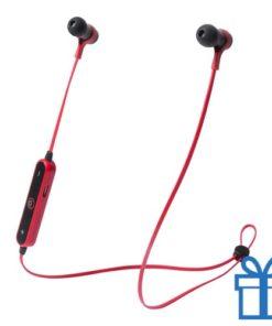 Bluetooth oordopjes handsfree rood bedrukken