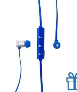 Bluetooth oordopjes oplaadbaar blauw bedrukken