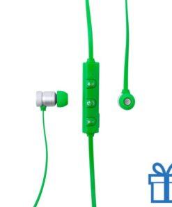 Bluetooth oordopjes oplaadbaar groen bedrukken