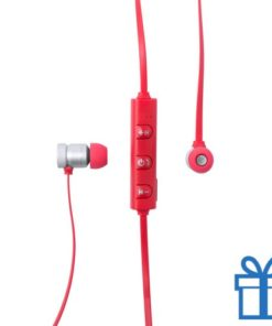 Bluetooth oordopjes oplaadbaar rood bedrukken