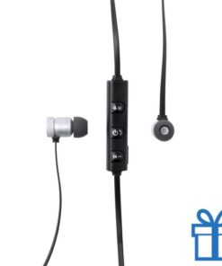 Bluetooth oordopjes oplaadbaar zwart bedrukken