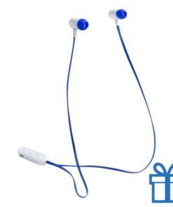 Bluetooth oordopjes oplaadbatterij blauw bedrukken