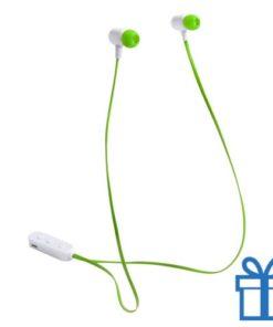 Bluetooth oordopjes oplaadbatterij groen bedrukken