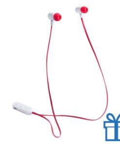 Bluetooth oordopjes oplaadbatterij rood bedrukken