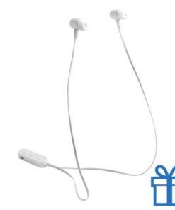 Bluetooth oordopjes oplaadbatterij wit bedrukken