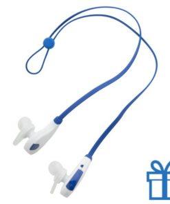 Bluetooth oordoppen hands-free blauw bedrukken