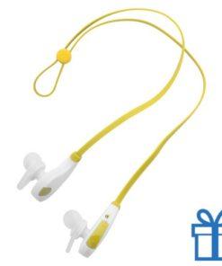 Bluetooth oordoppen hands-free geel bedrukken