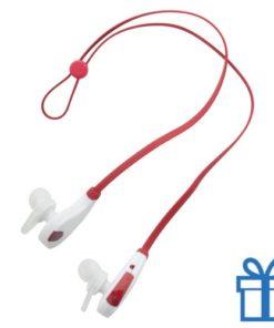 Bluetooth oordoppen hands-free rood bedrukken