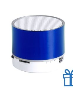 Bluetooth speaker accu LED verlichting blauw bedrukken