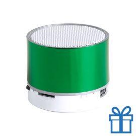 Bluetooth speaker accu LED verlichting groen bedrukken