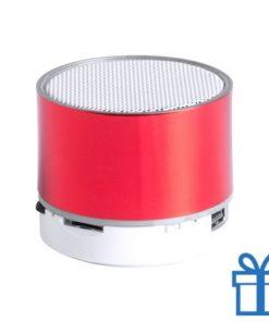 Bluetooth speaker accu LED verlichting rood bedrukken