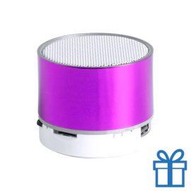 Bluetooth speaker accu LED verlichting roze bedrukken