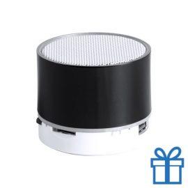 Bluetooth speaker accu LED verlichting zwart bedrukken