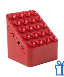 Bluetooth speaker oplader rood bedrukken