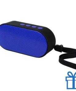 Bluetooth speaker ovaal blauw bedrukken
