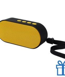 Bluetooth speaker ovaal geel bedrukken