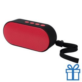 Bluetooth speaker ovaal rood bedrukken