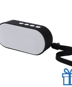 Bluetooth speaker ovaal wit bedrukken