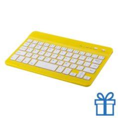 Bluetooth toetsenbord accu geel bedrukken