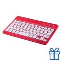 Bluetooth toetsenbord accu rood bedrukken