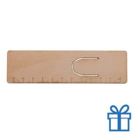 Boekenlegger hout 11 cm bedrukken