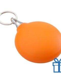 Brillendoekje plastic hoesje oranje bedrukken