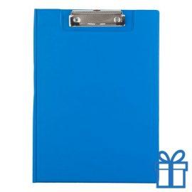 Clipboard PVC blauw bedrukken