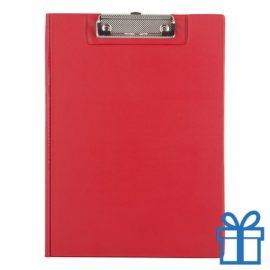 Clipboard PVC rood bedrukken