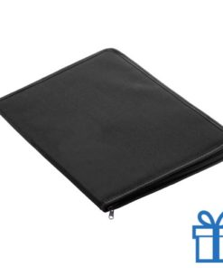 Documenten map 600D polyester A4 zwart bedrukken