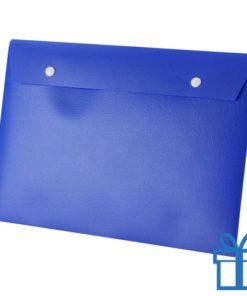 Documenten map knoopsluiting blauw bedrukken