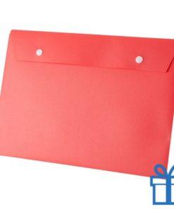 Documenten map knoopsluiting rood bedrukken