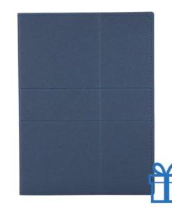 Documentenmap kladblok blauw bedrukken