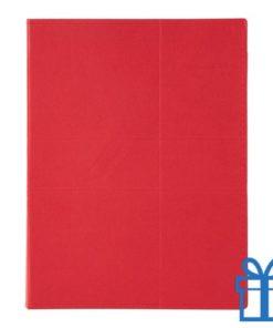 Documentenmap kladblok rood bedrukken
