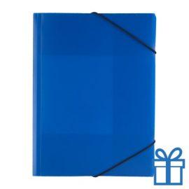 Documentenmap touwsluiting blauw bedrukken