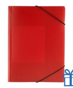 Documentenmap touwsluiting rood bedrukken