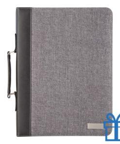 Documentmap A4 linnen PU leder rekenmachine bedrukken