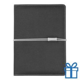 Documentmap A5 notitieboek rubberen band bedrukken