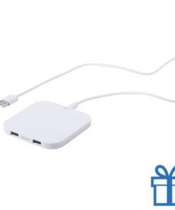 Draadloze oplader 2 USB poorten bedrukken