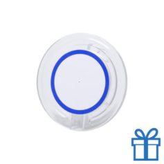 Draadloze telefoonlader goedkoop blauw bedrukken