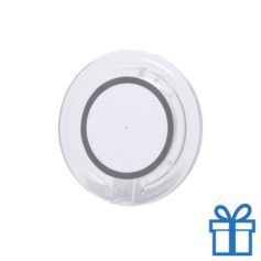 Draadloze telefoonlader goedkoop lichtgrijs bedrukken