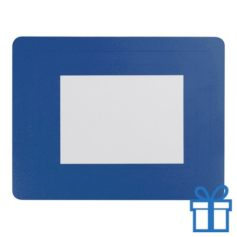 Fotolijst muismat 10x15 cm blauw bedrukken