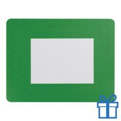 Fotolijst muismat 10x15 cm groen bedrukken