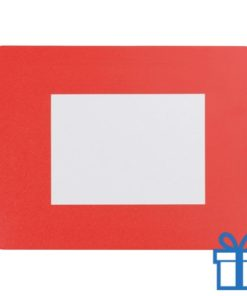 Fotolijst muismat 10x15 cm rood bedrukken