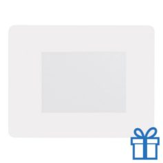 Fotolijst muismat 10x15 cm wit bedrukken