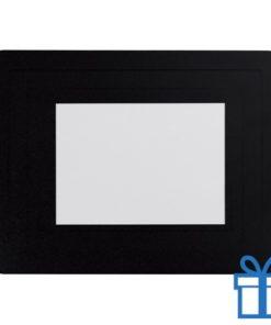 Fotolijst muismat 10x15 cm zwart bedrukken