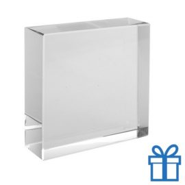 Glazen blok 3D bedrukken