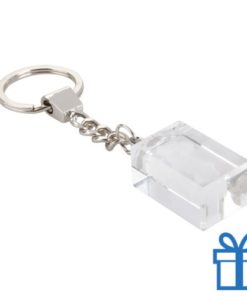 Glazen blokje sleutelhanger bedrukken